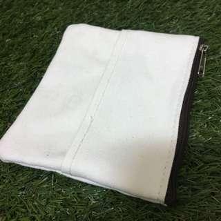 米白綿麻零錢包/衛生棉包/衛生紙包