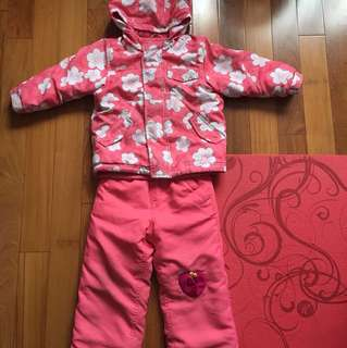 Old Navy Girl's Winter Jacket + Snow Pants Size 4T
