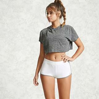 Forever 21 Active Cropped Hoodie