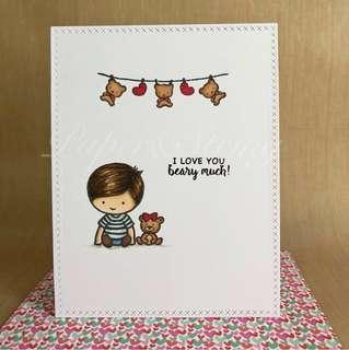 Valentines day card - Design Boy A