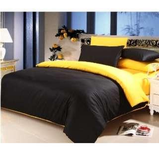 Bedcover katun polos ukuran 180x200x25