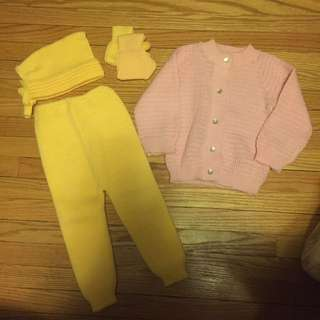 Baby Knitted sweater and pants