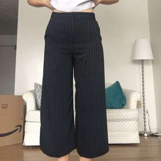 Topshop Pinstripe Wideleg Coulotte