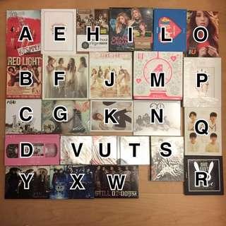 自行出價 韓國空專CD專輯DVD小卡 EXO/F(x)/EXID/4minute/2AM/2PM/Apink/IU/Kara/泫雅/BoA/B.A.P
