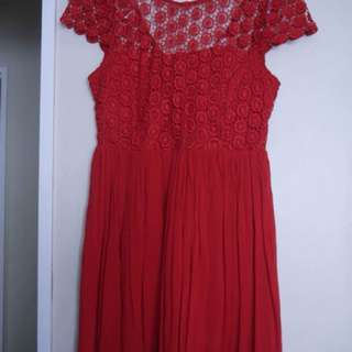 Crochet red dress