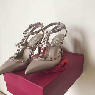 valentino rockstad heels authentic size 8