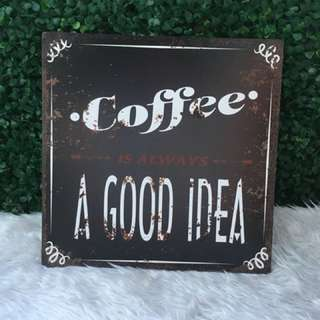 Big sized Coffee Wooden Wall Decor
