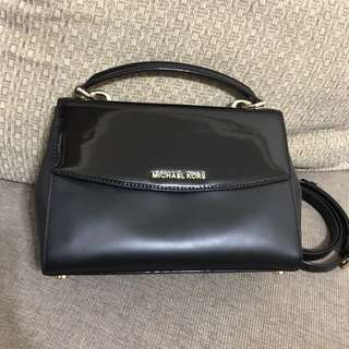 全新真品Michael Kors 黑色真皮兩用手袋Leather Shoulder Bag