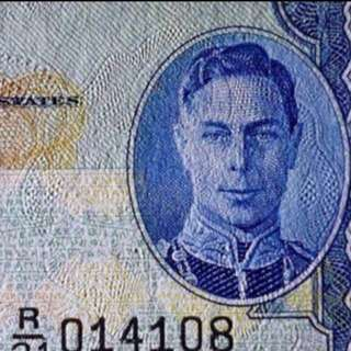 👑 1941 Board Of Commissioner Of Currency Malaya $1 King George 🤴 , Lucky Number R/21 014108 幸运号码 (您一世要您发) Original Paper 📝 AU - UNC Condition, Letting Go To Sincere Collector $118 Nett