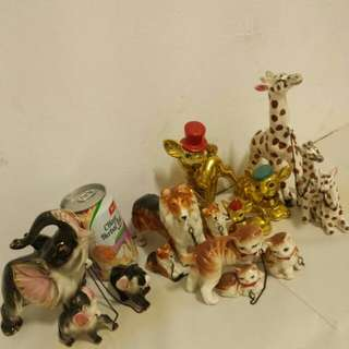 Part 3 vintage collectible animal family collection