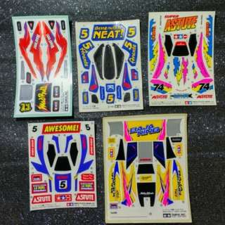 Vintage Tamiya Mini 4wd Stickers