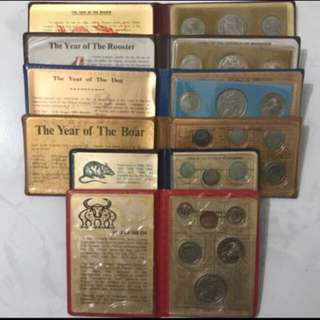 💰 UNC Wallet Set! First Series UNC Coin Set In 1976, 1981, 1982, 1983, 1984, 1985 Uncirculated Coin Set, 1 Cent - $1 UNC Coin set With 1985 Key Date, Last Year Issue Of If The Stylize Lion Coins, $108 Letting Go Collector! 💰