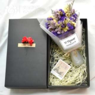 Valentine Quality Dried Flowers Bouquet In Gift Box (D1)