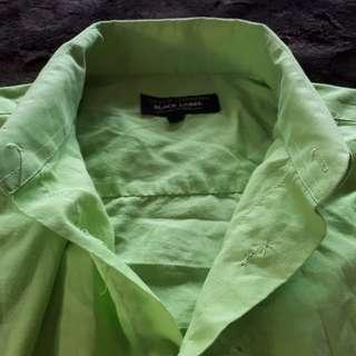 Black Label Lime Green Dress Shirt (M)