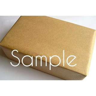 NEW 9 Pcs Brown Kraft Parcel Wrapping Paper