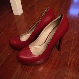 red patent chinese laundry heels size 6