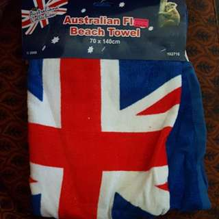 Australia day beach towel