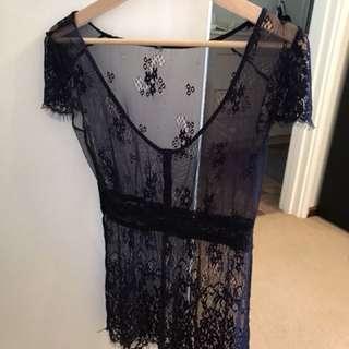 Topshop lace top. Size 8