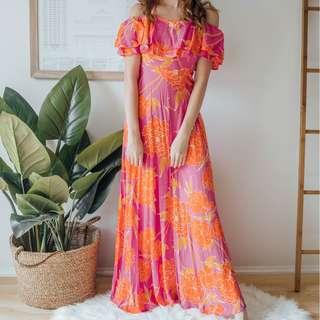 Mister Zimi - Pink Island Halter Dress