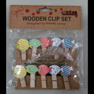 Mini Wooden Clips #18 (Fish)