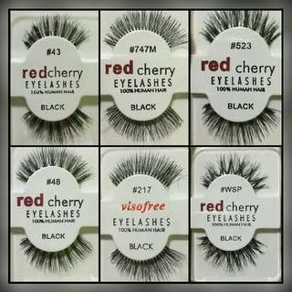 Instock 3 Pairs @ $15 Red Cherry Lashes