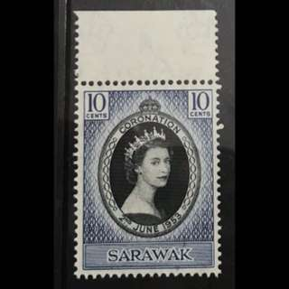 Malaya stamps - Sarawak Queen Eliz coronation mint Very fresh MNH
