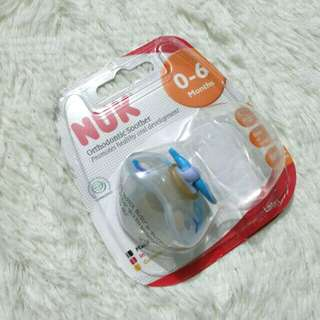 NUK BABY PACIFIER/SOOTHER (LATEX TEAT)