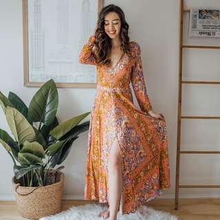 Spell & The Gypsy Collective - Floral Purple Pink Orange Dress ✧ Tara Milk Tea
