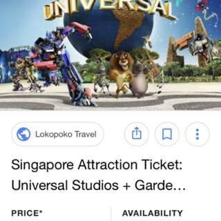 LOOKING FOR UNIVERSAL STUDIO USS TICKETS FOR 2 adults