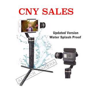 Feiyu SPG 3-Axis (New Version: Splash-Proof) Stabilizer Handheld Gimbal for Smartphone & Action Camera