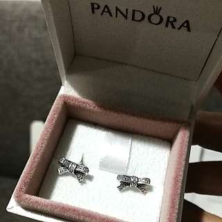 Pandora Sparkling Bow Earrings