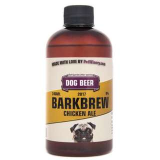 Dog beer, wine and tea bags