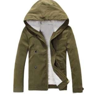 Khaki Fur Lined Jacket
