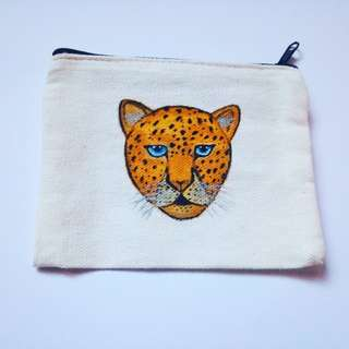 Handpainted Coin Purse - Leopard