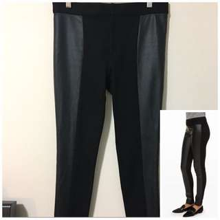 Club Monaco M Tasha Double Knit Faux Leather Legging