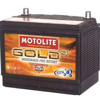 NO WARRANTY: Motolite Gold 21 Car Battery Maintenance-Free