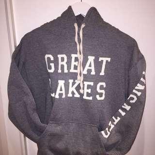 Great Lakes Vineyard Authentic Vintage Grey Hoodie - Size Medium