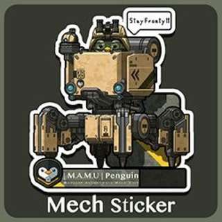 Military Penguin Mech Sticker - Sold Out
