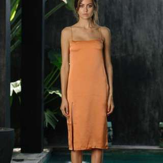Silk split dress