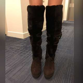 Brown long boots (37)