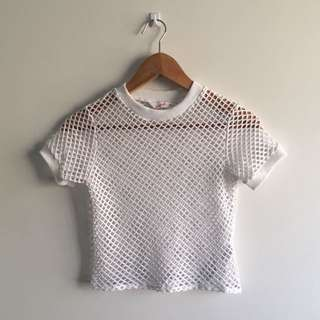 Net Cropped Top