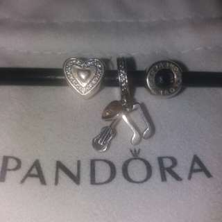 Pandora s92.5 silver pendants and charm