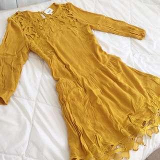 SEED HERITAGE Mustard Dress