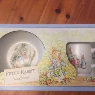 WEDGEWOOD - Peter Rabbit Mug & Bowl set (Brand New - boxing slightly torn)