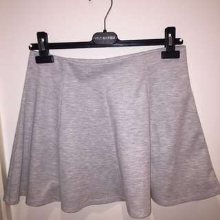 F21 Grey Skater Skirt - Size Large