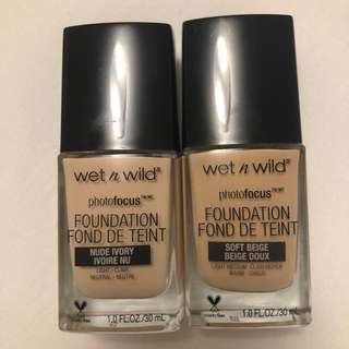 New WET N WILD Photo Focus Foundations