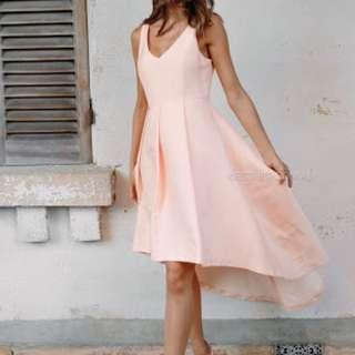 Esther Luxe Peach Dress