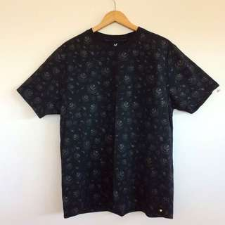 Black dangerfield all over print tee
