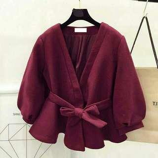 kimono miumiu maroon
