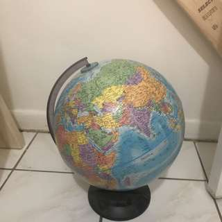 Spinning globe of the world